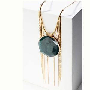 Anthropologie Evergreen Pendant Necklace